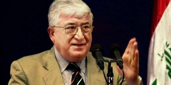 Fouad Massoum en 2004 à Bagdad, Irak.