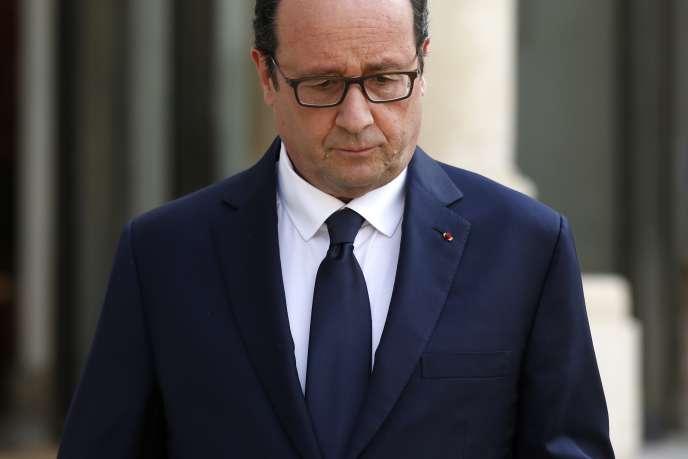 François Hollande, le 24juillet à l'Elysée.