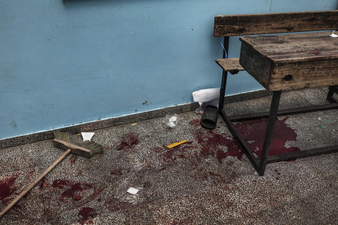 L'école de l'ONU visée par les tirs israéliens, à Beit Hanoun, le 24 juillet.