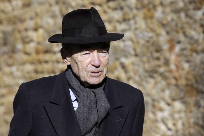 L'ancien garde des sceaux Robert Badinter en février lors d'une cérémonie d'hommage aux résistants au Mont Valérien à Suresnes (Hauts-de-Seine).