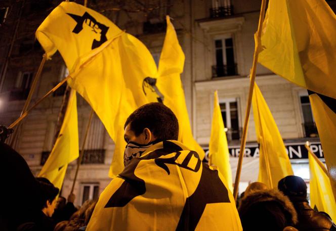 La Ligue de défense juive s'est rassemblée à Paris à la mémoire d'Ilan Halimi, le 13 février à Paris.