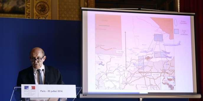 Le ministre de la défense, Jean-Yves LeDrian, à l'Elysée le 25juillet.