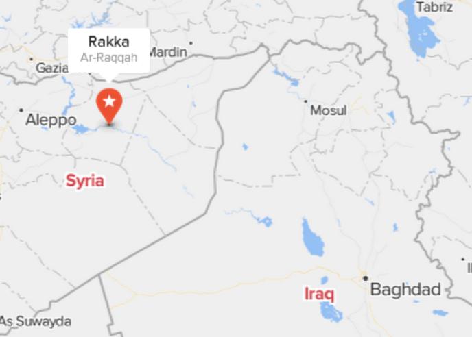 La ville de Rakka, au nord de la Syrie, contrôlée par l'Etat islamique.