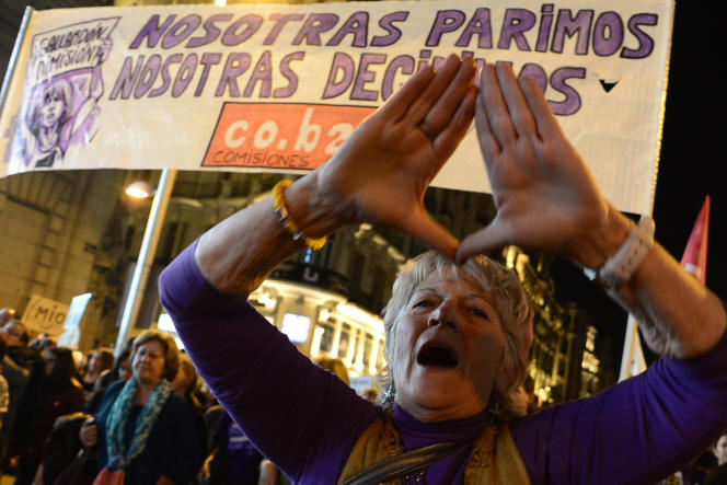 Manifestation anti-avortement à Madrid le 8 mars 2014.