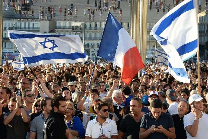 Manifestation pro-israélienne à Marseille, le 27 juillet.
