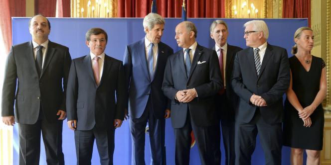 A Paris, le 26 juillet, lors d'une rencontre diplomatique dédiée à Gaza.