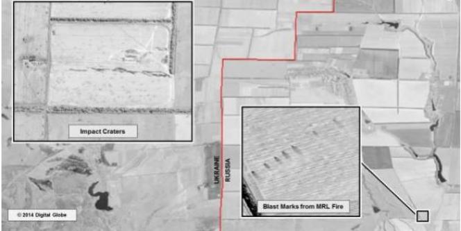 Des images satellites montrant des tirs de roquettes russes sur l'Ukraine.