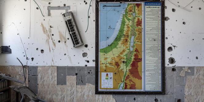 A l'intérieur d'un bâtiment de Chadjaiya (Gaza) lors des 12 heures de trêve humanitaire entre le Hamas et Tsahal, le 26 juillet.