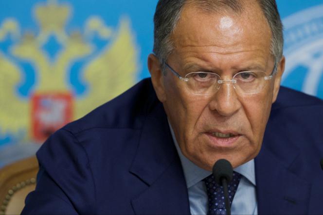 Le ministre des affaires étrangères russes, Sergueï Lavrov, le 30 juillet.