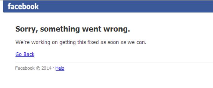 Panne générale de Facebook, ce vendredi soir.