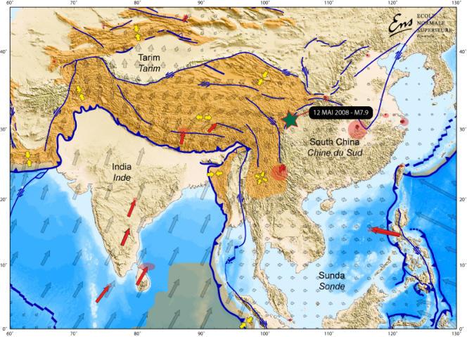 Le tremblement de terre du Sichuan en 2008.
