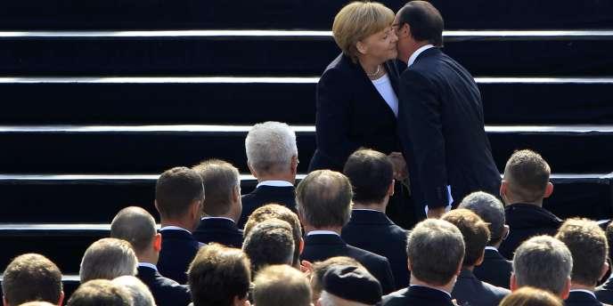 François Hollande et Angela Merkel, le 22 septembre 2012.