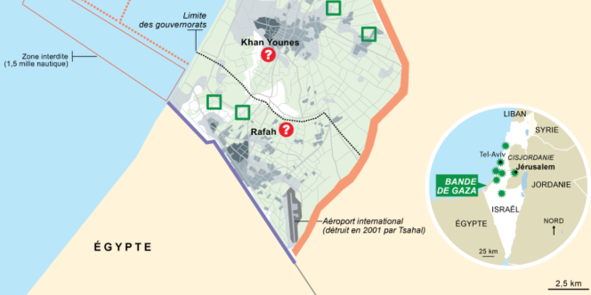 Rafah : carte de situation.