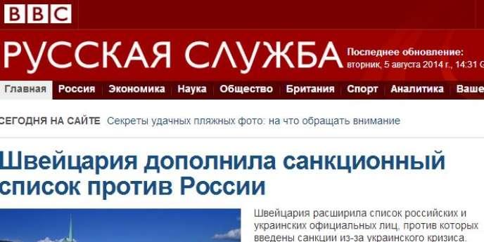 Site du service russe de la BBC.