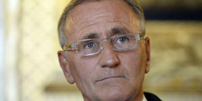 Le secrétaire d'Etat à la réforme territoriale André Vallini chargé du nouveau découpage de la France en treize régions.