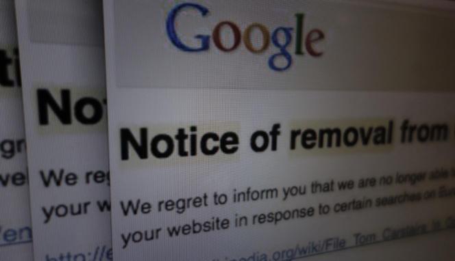 Google a averti la fondation Wikimedia que certains articles de Wikipedia avaient été déréférencés de certains résultats de recherche au nom du