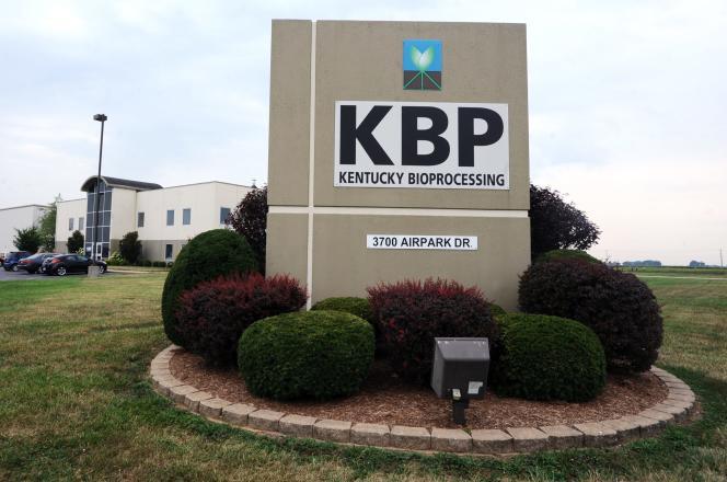 Le siège du laboratoire Kentucky Bioprocessing, à Owensboro (Kentucky), qui produit le ZMapp.