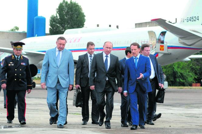 Le président russe, Vladimir Poutine, mardi 5 août, à Voronej, en Russie.