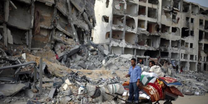Dans Gaza, le 5 août 2014.