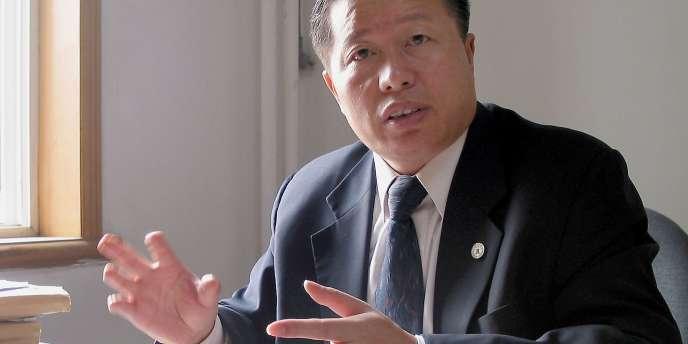 L'avocat chinois et défenseur des droits de l'homme Gao Zhisheng, ici en 2005, était emprisonné depuis trois ans.