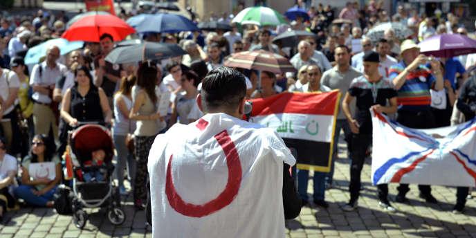 Manifestation de soutien aux chrétiens d'Irak, à Lyon, le 26juillet.