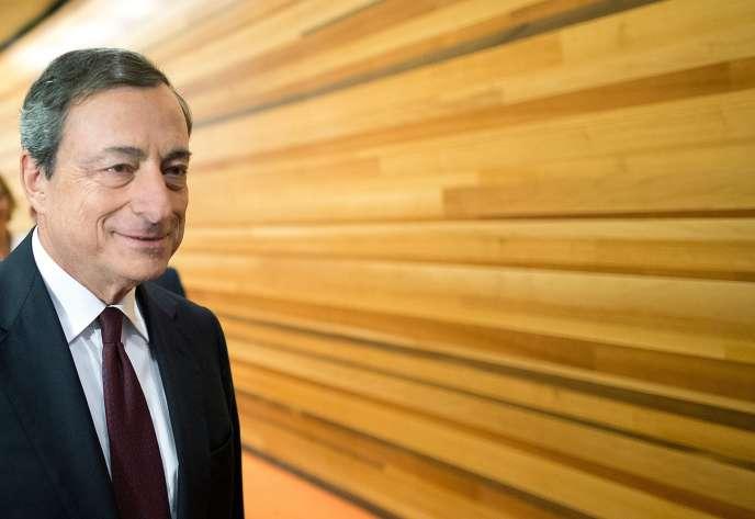 Mario Draghi, le président de la Banque centrale européenne, à Francfort, le 7 août.