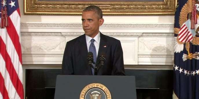 Barack Obama, le jeudi 7 août 2014.