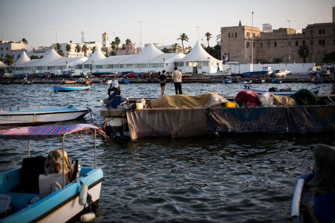 Dans le port de Tripoli en juillet 2014.