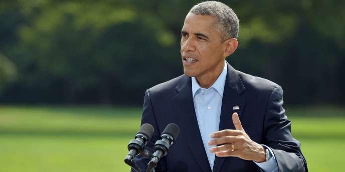 Barack Obama, à la Maison Blanche lors d'une conférence de presse, le 9août.