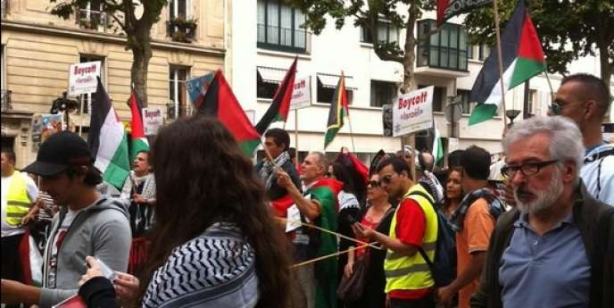 Manifestation de soutien à Gaza, samedi 9 août à Paris.