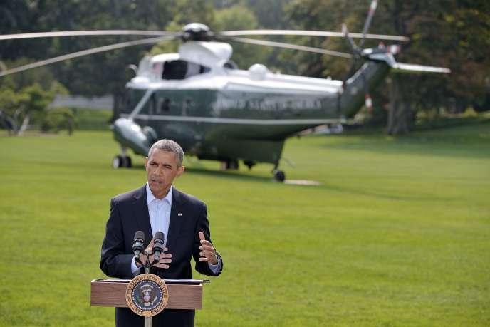 Barack Obama à la Maison Blanche, le 9août.