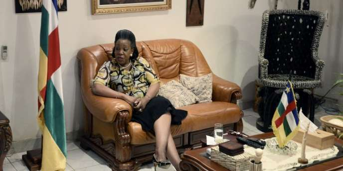 La présidente centrafricaine Samba Panza le 7 juillet à Bangui.