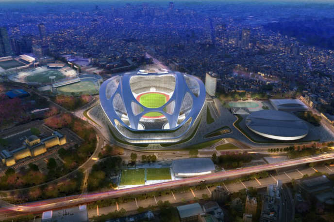 Vue d'artiste du projet de stade du cabinet Zaha Hadid, à Tokyo.
