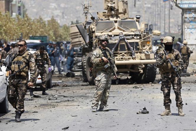 Des troupes de l'Organisation du traité de l'Atlantique Nord à Kaboul.