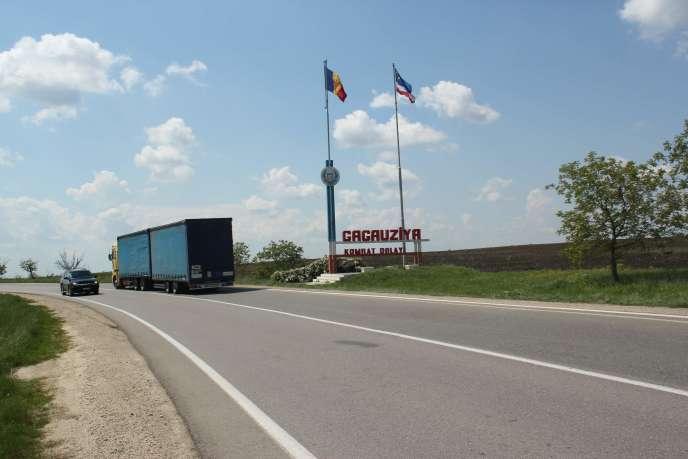 A 100 kilomètres au sud de Chisinau, l'entrée dans la province autonome de Gagaouzie.