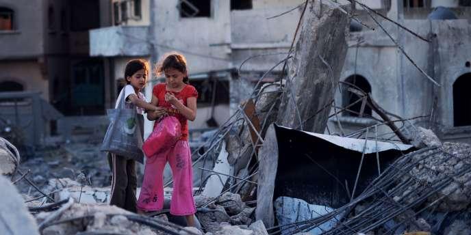 Au nord de la bande de Gaza, le 11 août pendant la trêve.