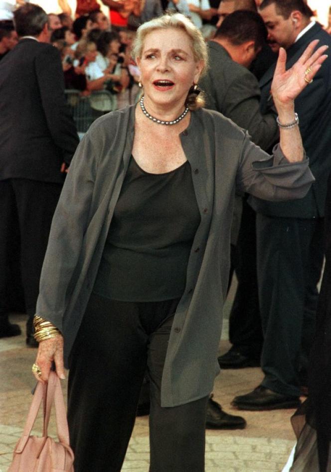 Lauren Bacall à Deauville en 1999.