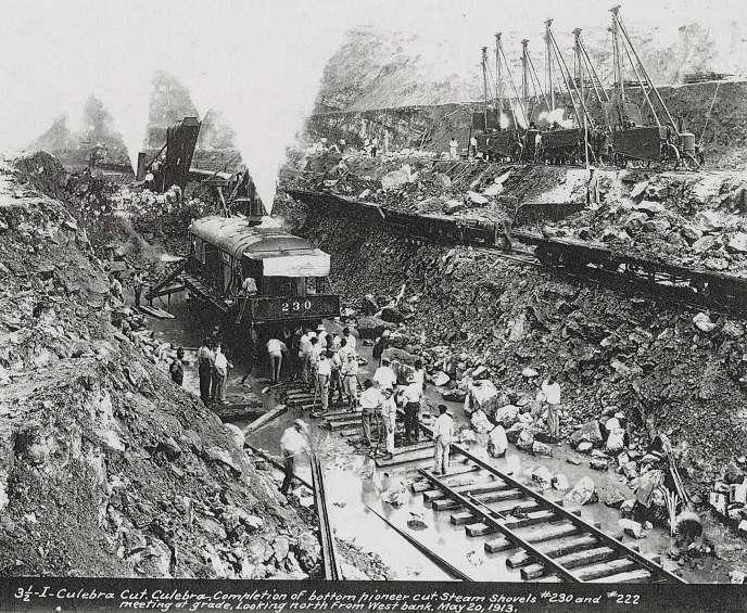 Les travaux du Canal de Panama en mai 1913.