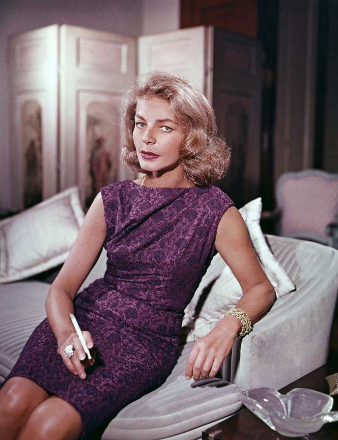 Lauren Bacall à New York, en 1965.