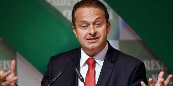 Eduardo Campos, candidat socialiste à la présidence brésilienne, le 6 août à Brasilia.