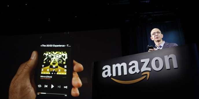 Jeff Bezos, le patron d'Amazon, lors d'une conférence de presse à Seattle, le 18 juin 2014.