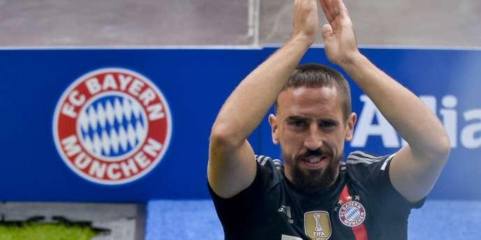 Franck Ribery lors de la présentation officielle de la nouvelle équipe du Bayern de Munich, le 9 août 2014.