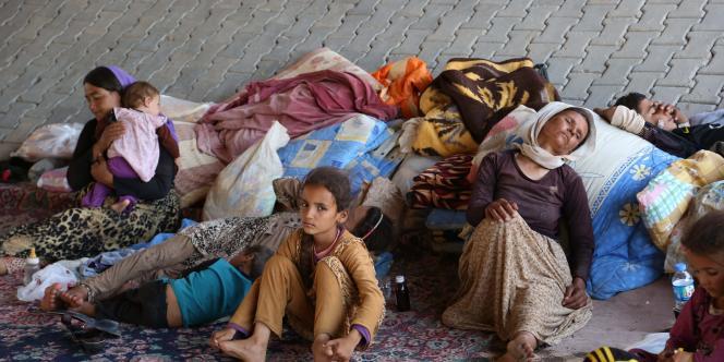 Des réfugiés yézidis dans le nord de l'Irak.