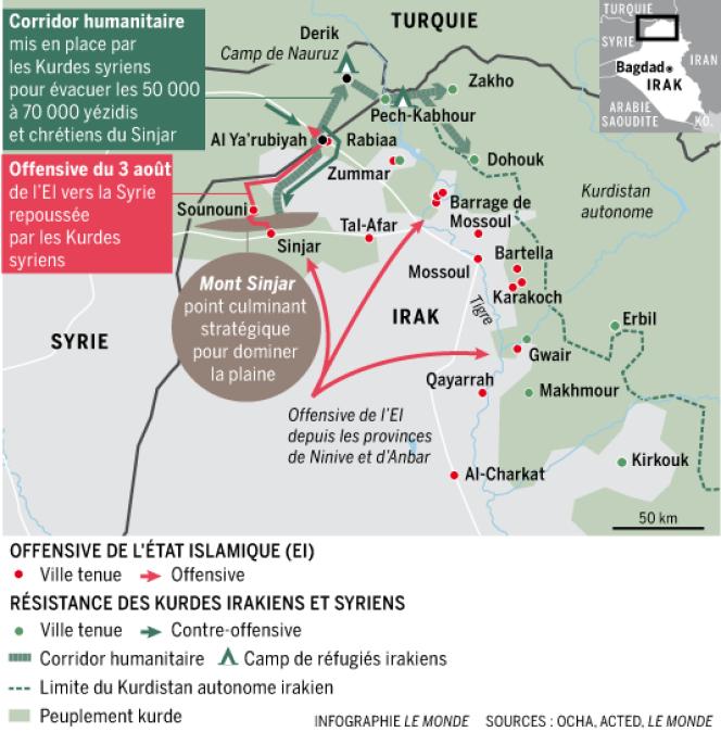 La bataille du massif de Sinjar