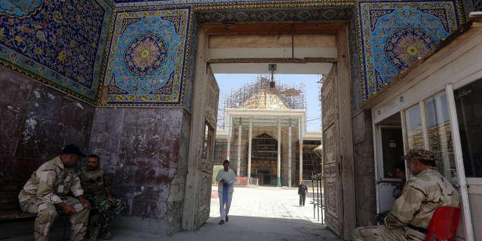 La mosquée d'Al-Askari à Samarra, en Irak, en juillet 2014.