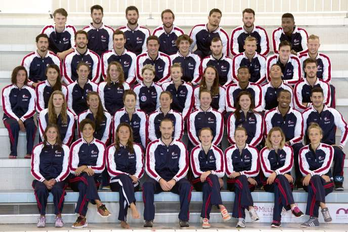 Les nageurs français lors d'une session d'entraînement organisée à Mulhouse début août pour préparer les championnats d'Europe de natation qui se tiennent du 13 au 24 août à Berlin.