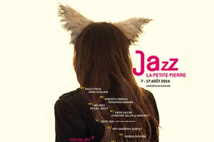 Visuel du festival Au Grès du jazz à La Petite Pierre (Bas-Rhin), du 7 au 17 août 2014.
