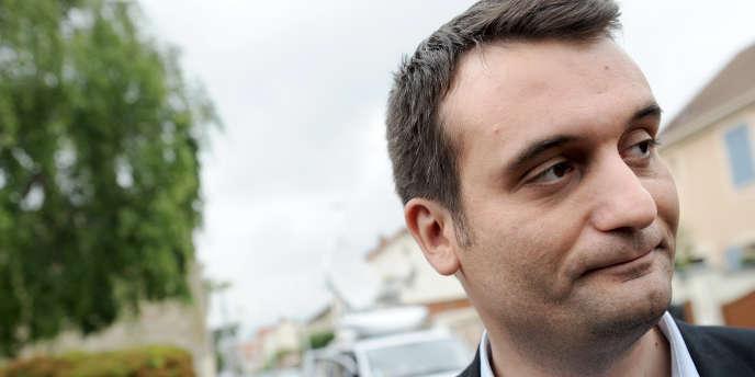 Florian Philippot, le vice-président du Front national, le 26 mai 2013 à Nanterre.