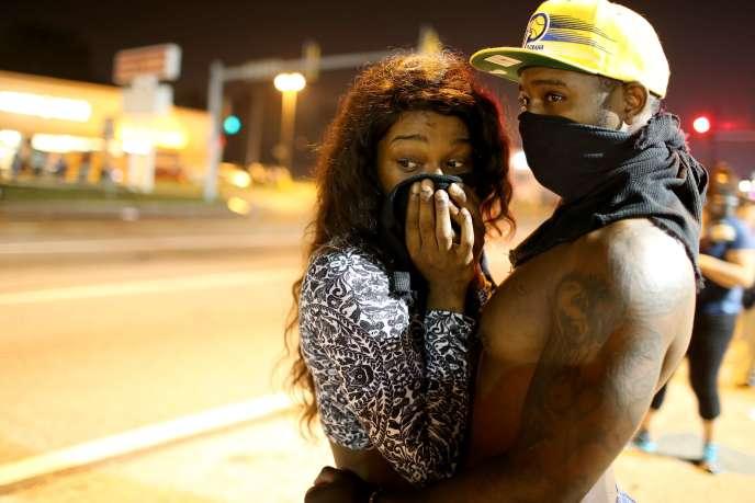 Manifestation à Ferguson, le 18 août.
