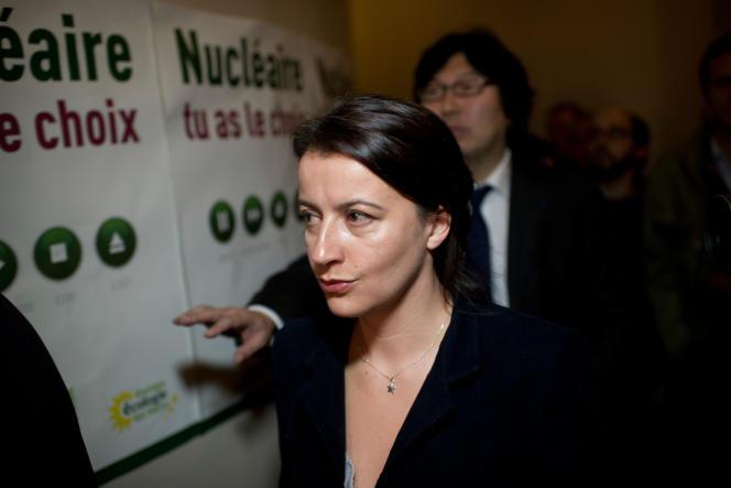 Cécile Duflot et Jean-Vincent Placé, à Paris, en 2011.